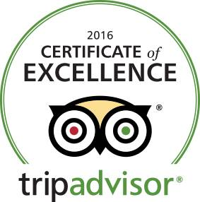 Baltimore Ghost Tours 2016 certificate of Excellence from Tripadvisor